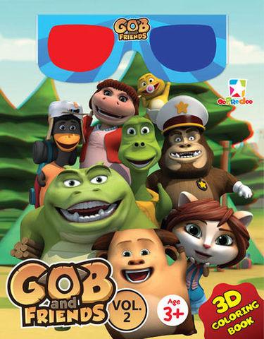 3D Coloring Book - Gob & Friends Vol. 2