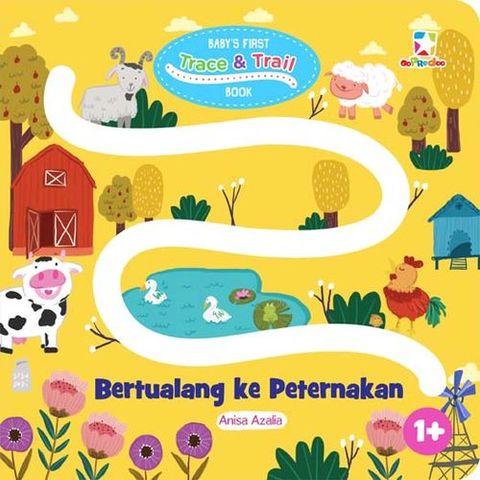 Baby`s First Trace & Trail Book: Bertualang ke Peternakan