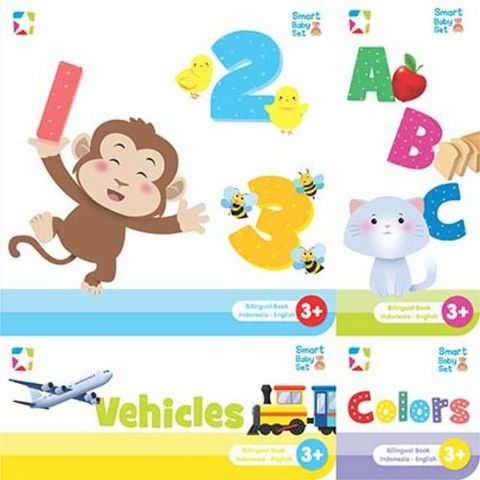 Opredo Smart Baby Set: Numbers, Alphabet, Colors & Vehicles