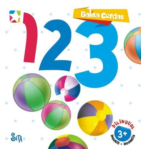 Board book  Balita Cerdas  2 Bahasa : 123