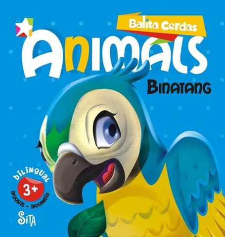 Board book  Balita Cerdas  2 Bahasa : Animals