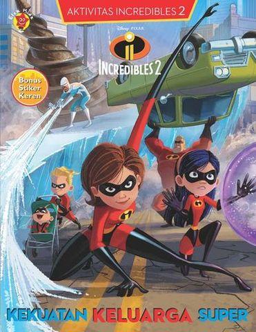 Aktivitas Incredibles 2 + Stiker: Kekuatan Keluarga Super