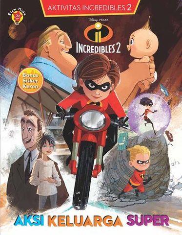 Aktivitas Incredibles 2 + Stiker : Aksi Keluarga Super