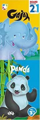 Opredo Board book 2 ini 1 : Gajah dan Panda
