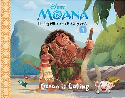 Opredo Finding Differences & Story Book 1 Moana: Ocean is Calling