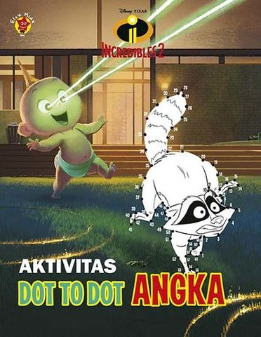 Aktivitas The Incredibles 2: Dot to Dot Angka