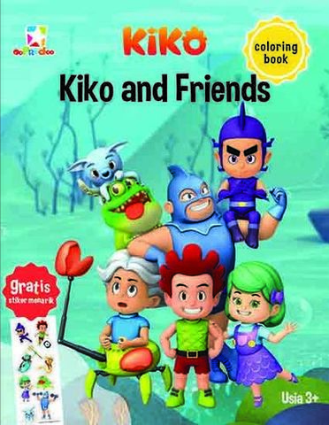 Opredo Coloring Book Kiko: Kiko & Friends