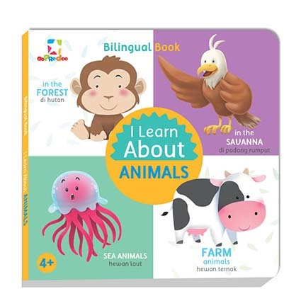 Opredo Bilingual Book - I Learn About Animals
