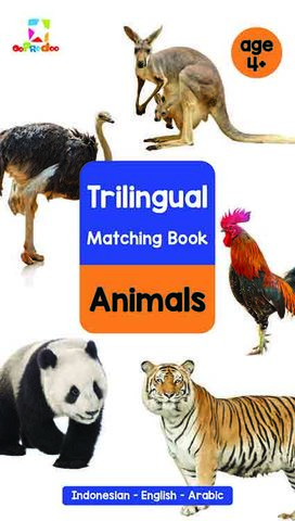 Opredo Trilingual Matching Book: Animals