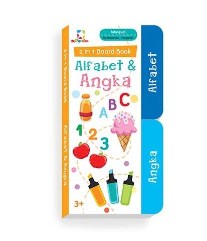 Oopredoo 2 in 1 Board Book : Alfabet & Angka