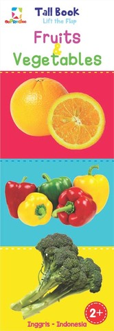 Opredo Tall Book Lift the Flap: Fruits & Vegetables