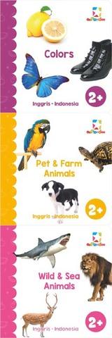 Opredo My First Library: Colors, Pet & Farm Animals, Sea & Wild Animals