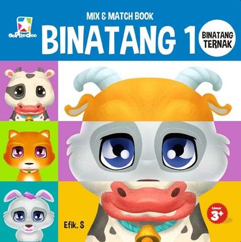 Mix & Match Book: Binatang 1