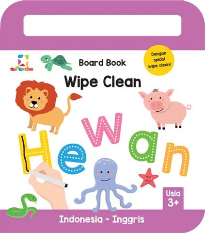 Opredo Board Book Wipe Clean: Hewan