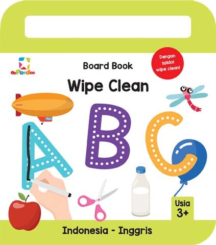 Opredo Board Book Wipe Clean: ABC