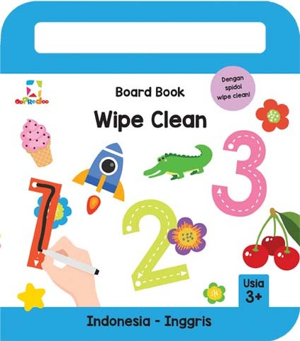 Opredo Board Book Wipe Clean: 123