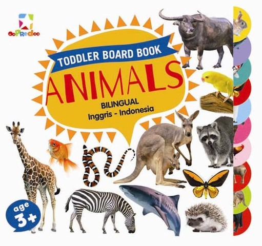 Opredo Toddler Board Book: Animals