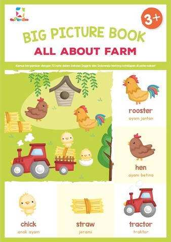 Opredo Big Picture Book: All About Farm