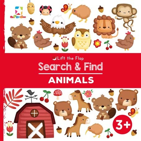 Opredo Lift the Flap Search & Find: Animals