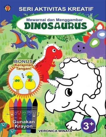 Seri Aktivitas Kreatif: Mewarnai dan Menggambar Dinosaurus