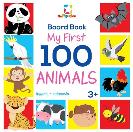 Opredo Board Book - My First 100 Animals
