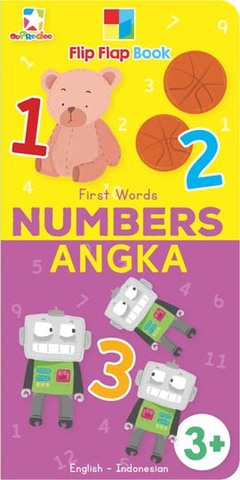 Opredo Flip Flap Book First Words: Numbers