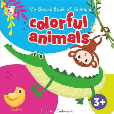 Opredo My Board Book of Animals: Colorful Animals