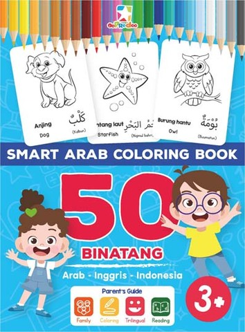 Opredo Smart Arab Coloring Book: 50 Binatang