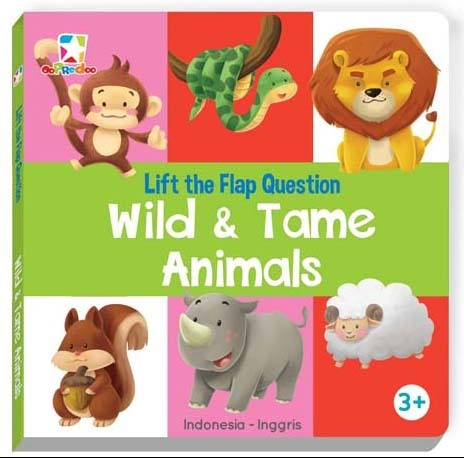 Opredo Lift the Flap Question - Wild and Tame Animals