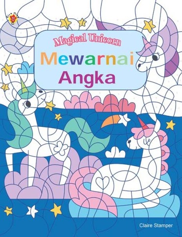 Magical Unicorn: Mewarnai Angka