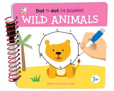 Opredo Dot to Dot for Beginners: Wild Animals