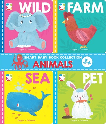 Opredo Smart Baby Book Collection: Animals