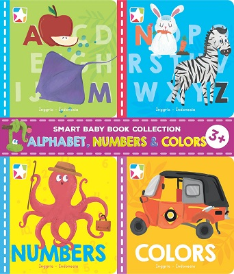 Opredo Smart Baby Book Collection: Alphabet, Numbers & Colors