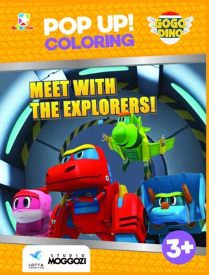 Opredo Pop Up Coloring GoGo Dino: Meet with the Explorers!