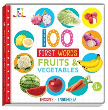 Opredo 100 First Words: Fruits and Vegetables