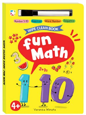 Opredo Wipe Clean Book: Fun Math
