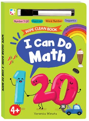 Opredo Wipe Clean Book: I Can Do Math