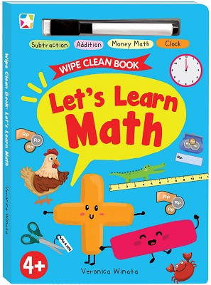 Opredo Wipe Clean Book: Let`s Learn Math