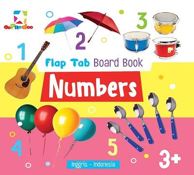 Opredo Flap Tab Board Book - Numbers