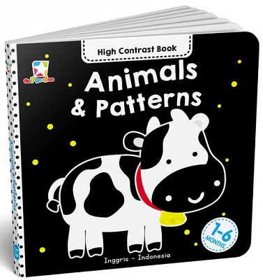 Opredo High Contrast Book: Animals & Patterns Tim Oopredoo
