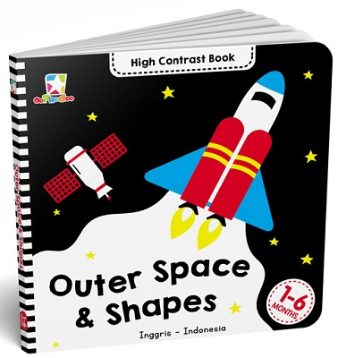 Opredo High Contrast Book: Outer Space & Shapes Tim Oopredoo