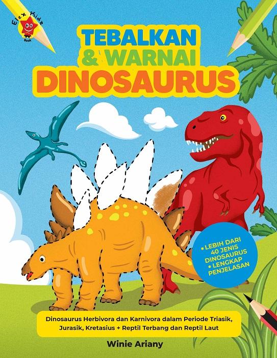Tebalkan dan Warnai: Dinosaurus