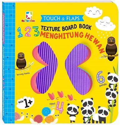 Opredo Touch & Flaps Texture Board Book: 123 Menghitung Hewan