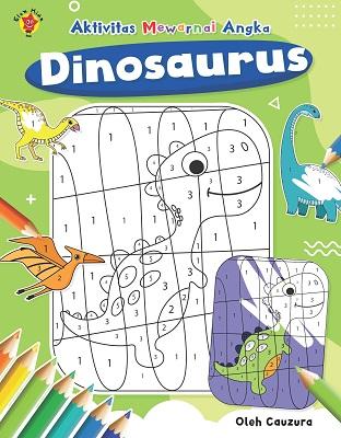 Aktivitas Mewarnai Angka: Dinosaurus