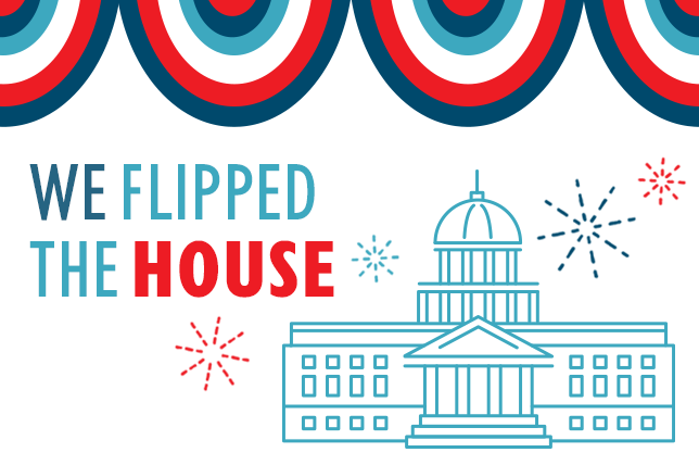 With At Least 23 Flip Seats, EMILY's List Women Deliver the U.S. House Majority