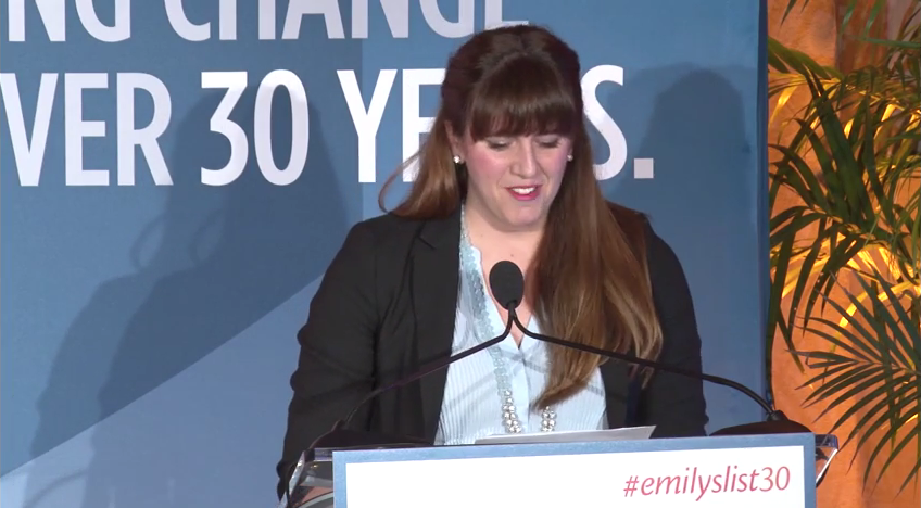 Kate Black speaks at EMILY's List 30th Anniversary