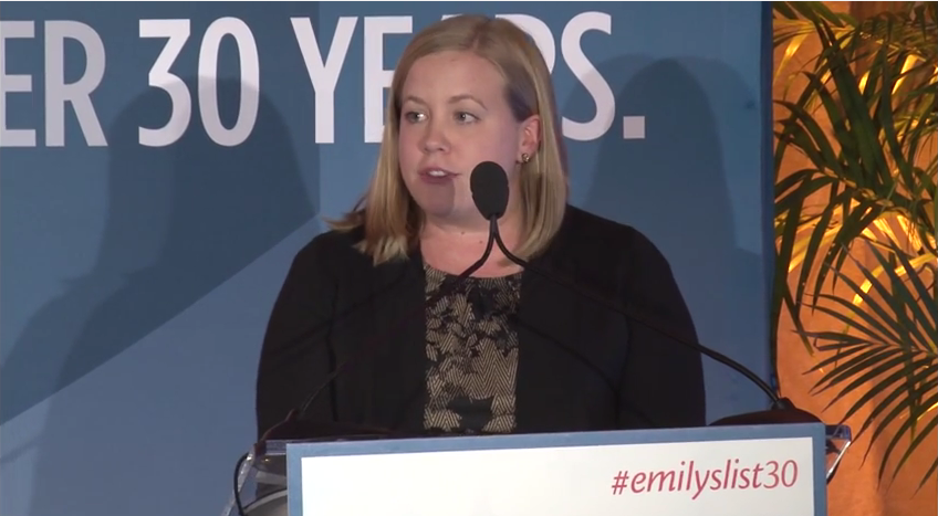 Louisa Farley speaks at EMILY's List 30th Anniversary