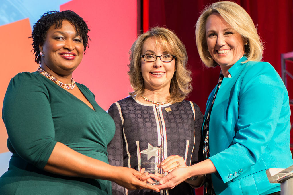 Stacey Abrams receives first ever Gabrielle Giffords Rising Star Award