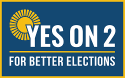 Yes on 2 for Better Elections Logo