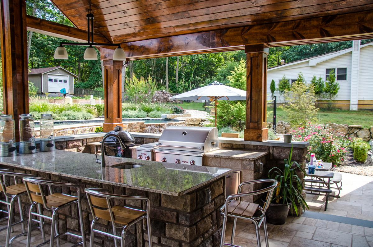 outdoor kitchens and patios designs patio design amp raised patio builders elite landscapes 7247